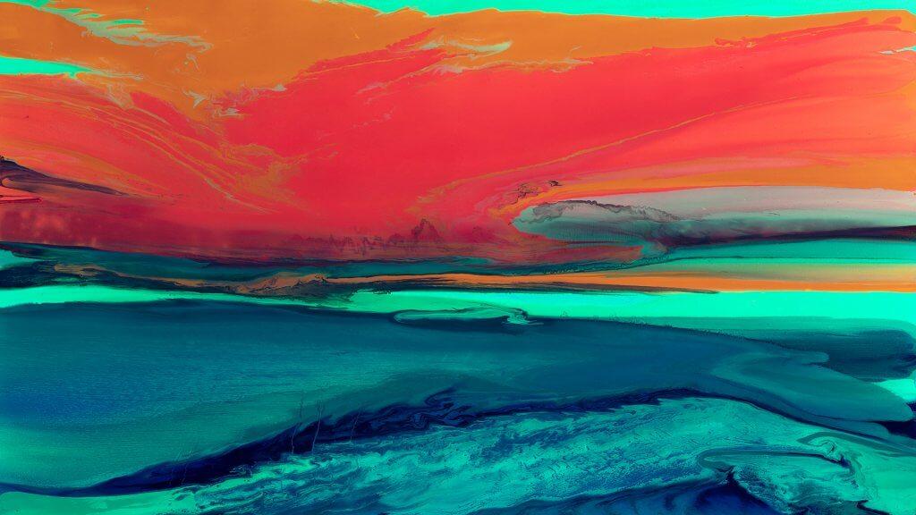GeorgII Uvs, Landscape. Mesozoic #4 [UV Light Exposure], 2017, 140x210cm. Courtesy the artist