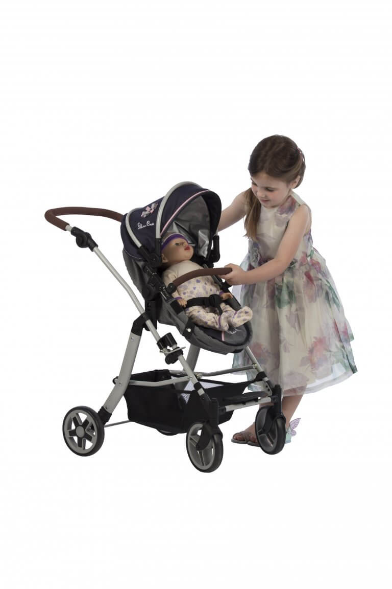 Silver Cross Pioneer 5 in 1 Dolls Pram in Vintage Blue from Play Like Mum 21 small