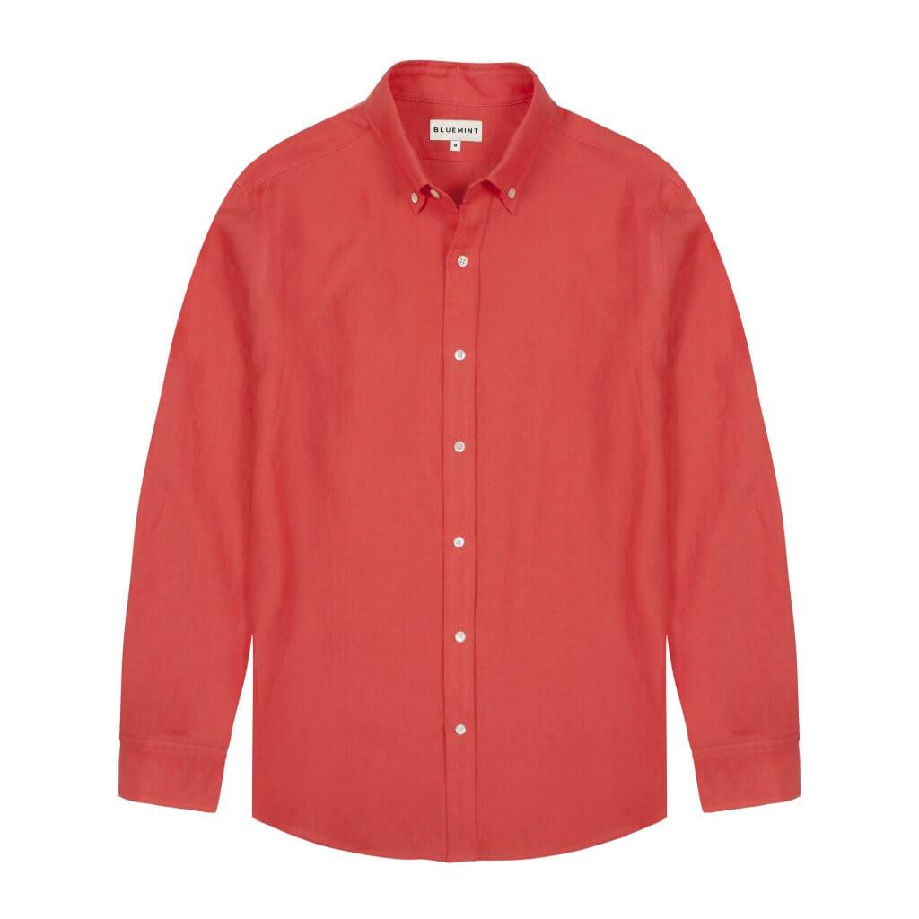 Martin Linen Shirt - Meteore £95