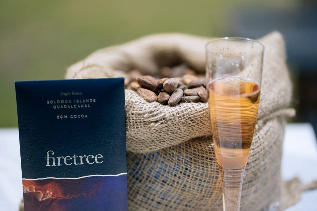 Firetree_Taste of London_Cacao Beans, Bar & Champagne