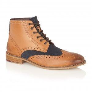 Gatsby Hi Boot Leather Tan/Navy