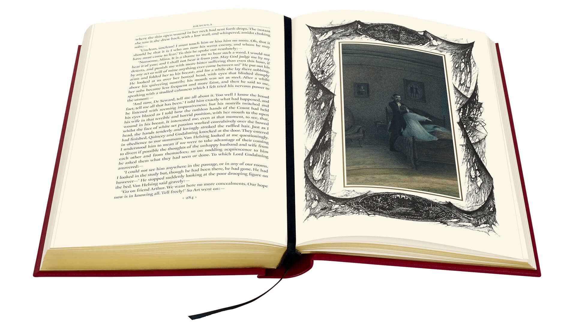 Dracula book pages