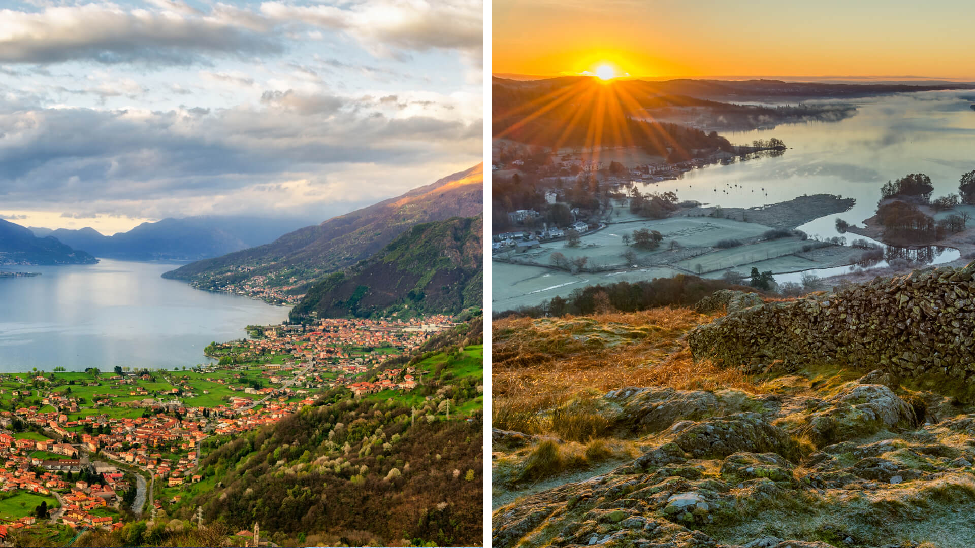 Italian Lakes vs. Lake District