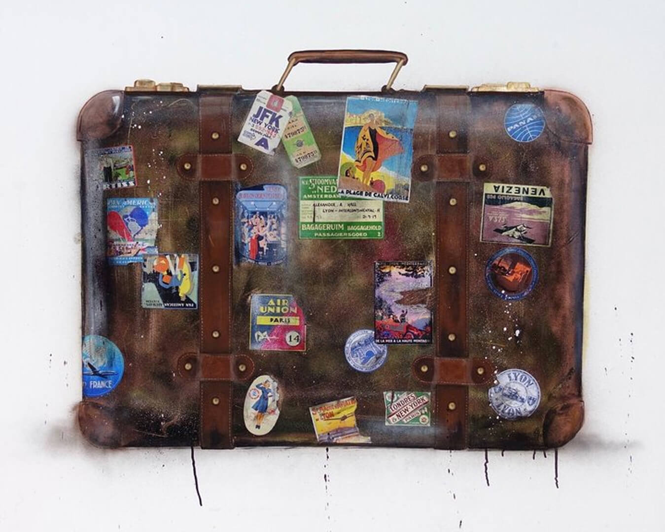 Alex Hall's Suitcase Artwork