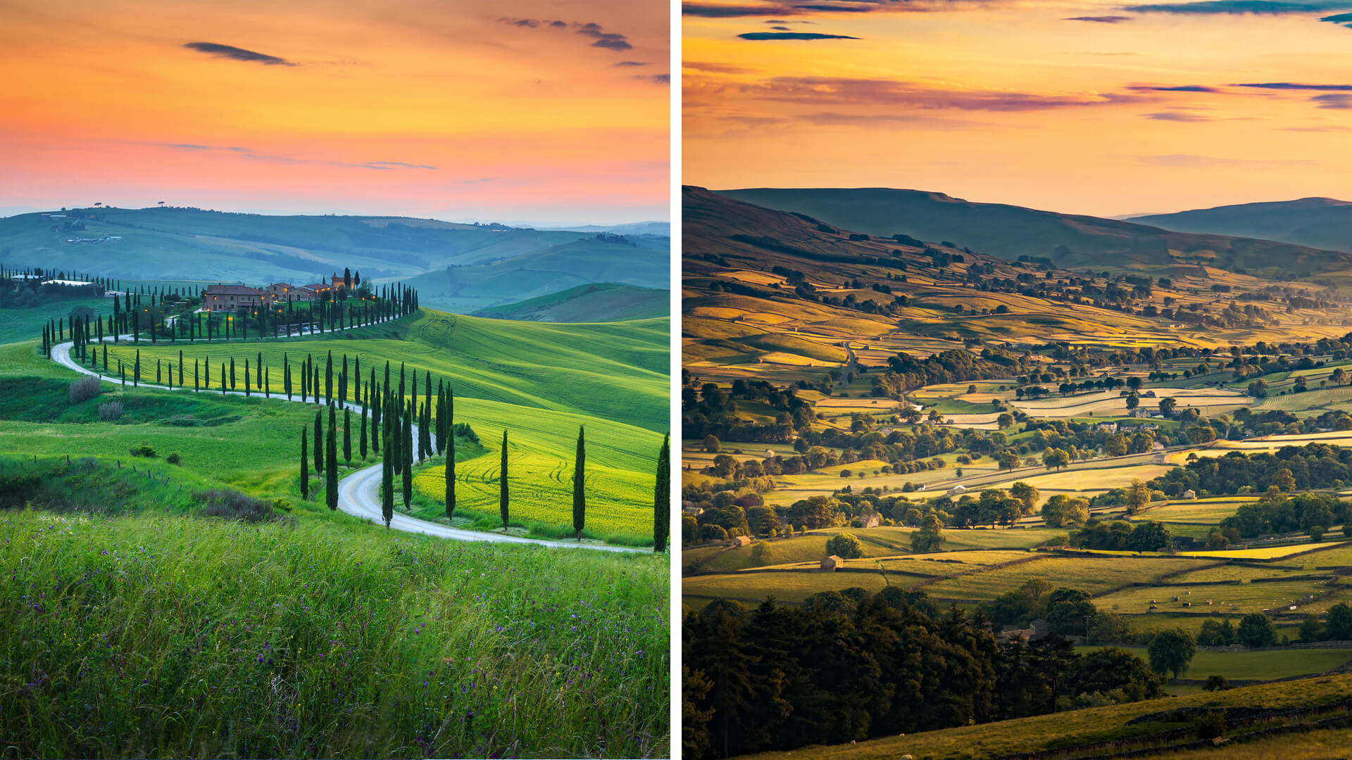 Tuscany Road Trip vs. Yorkshire Dales Road Trip