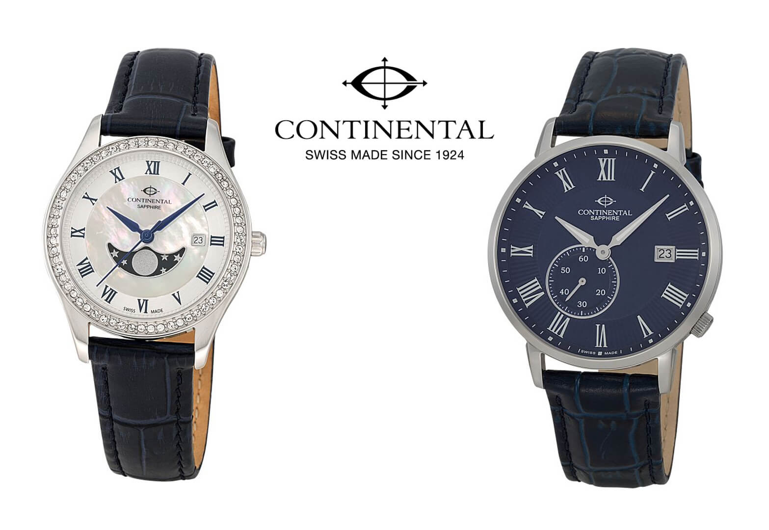Pictured: Ladies Continental Watch and Men's Continental Watch