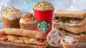 Starbucks xmas menu