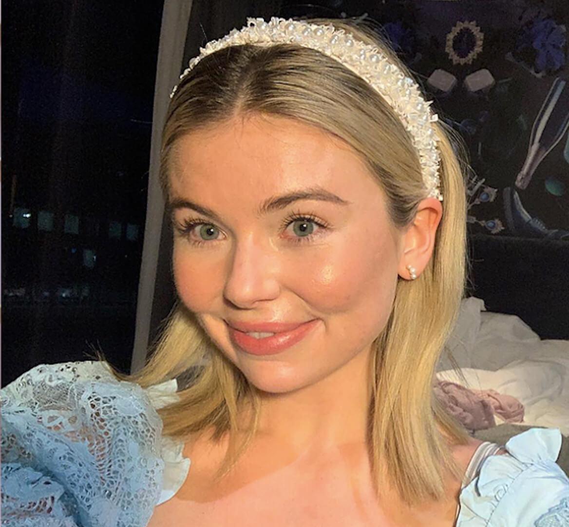 Georgia Toffolo wearing Crown Love