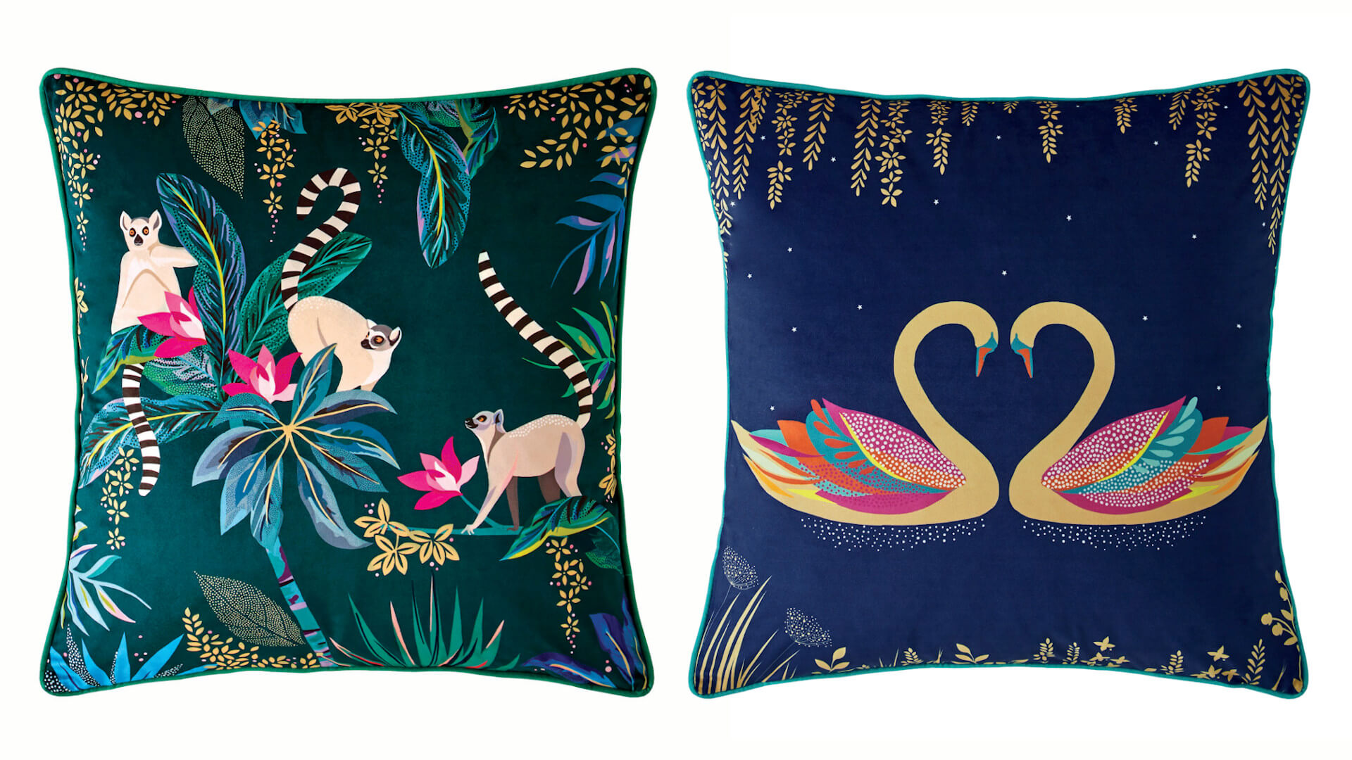 Sara Miller, Cushions – from £30