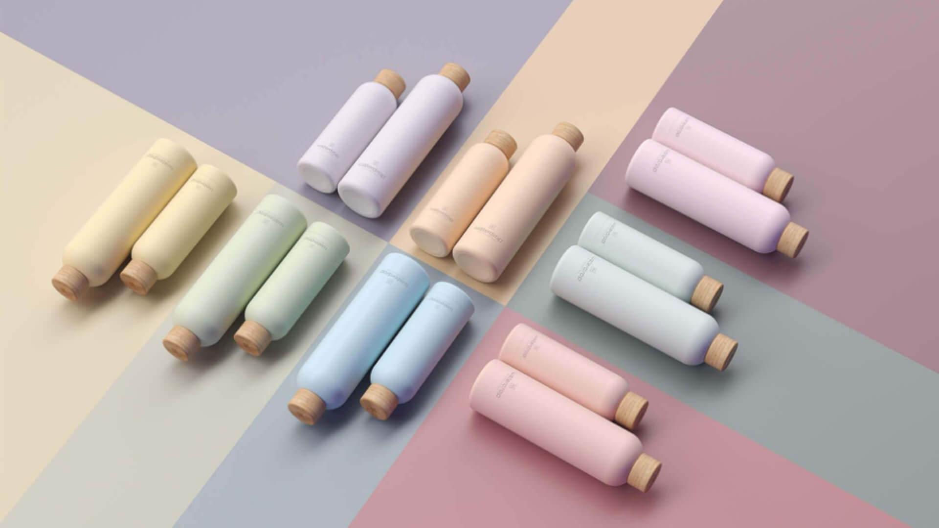 pastel waterbottles