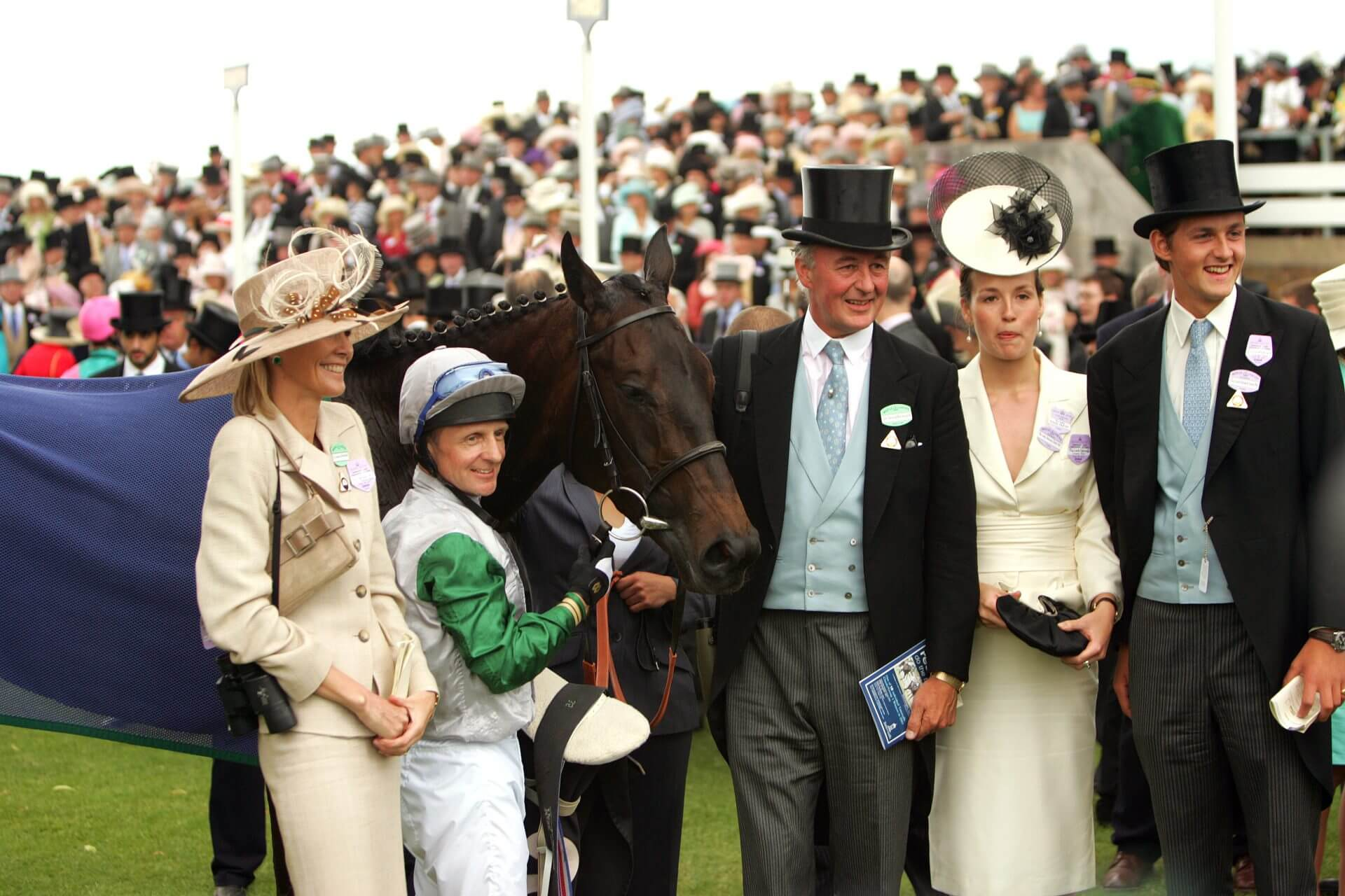 Attraction with the Duke of Roxburghe and family after winning the Coronation Stakes at Royal Ascot (credit RacingFotos)