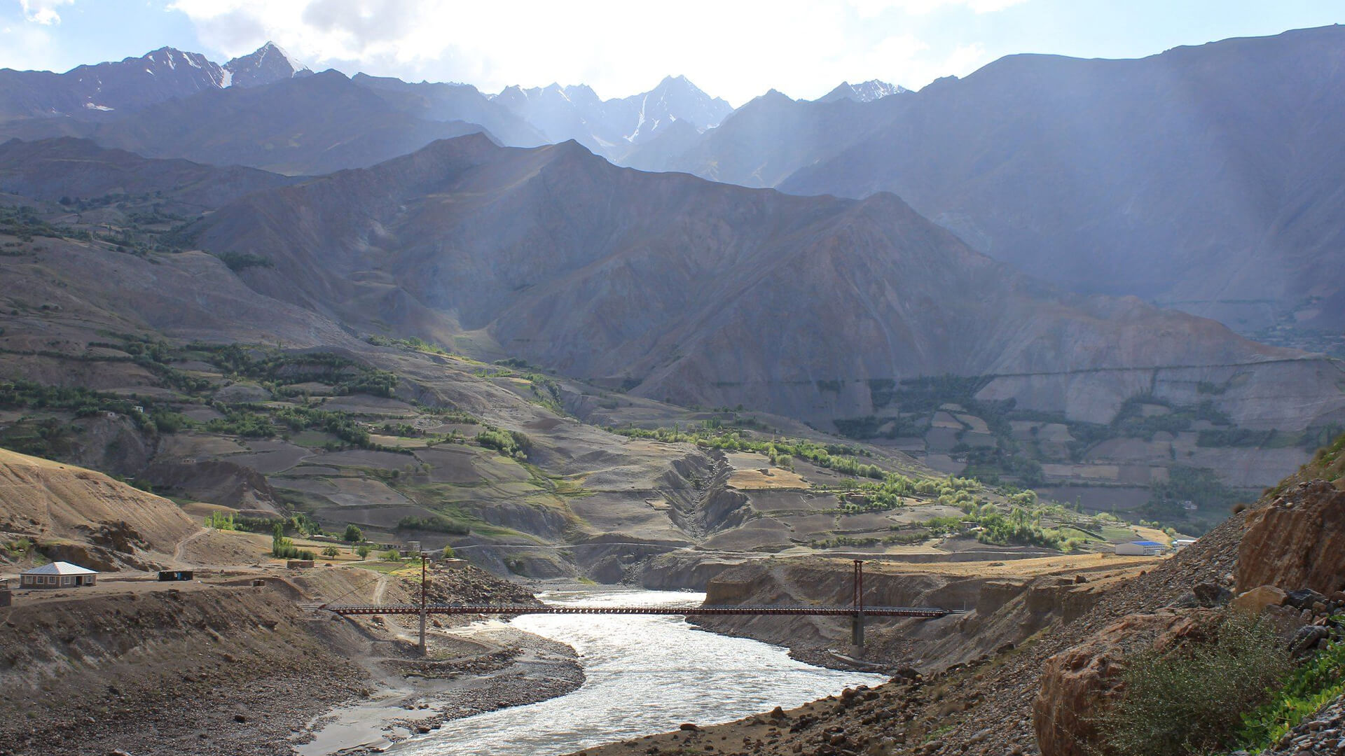 Cross-border bridges, Afghanistan to Tajikistan